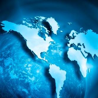 A globe, global internet space