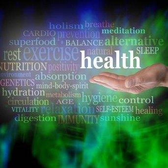 Graphical interpretation of Wellness related things (exercise, health, sleep, hydration, hygiene, vitality, self esteem, healing, digestion, etc.)