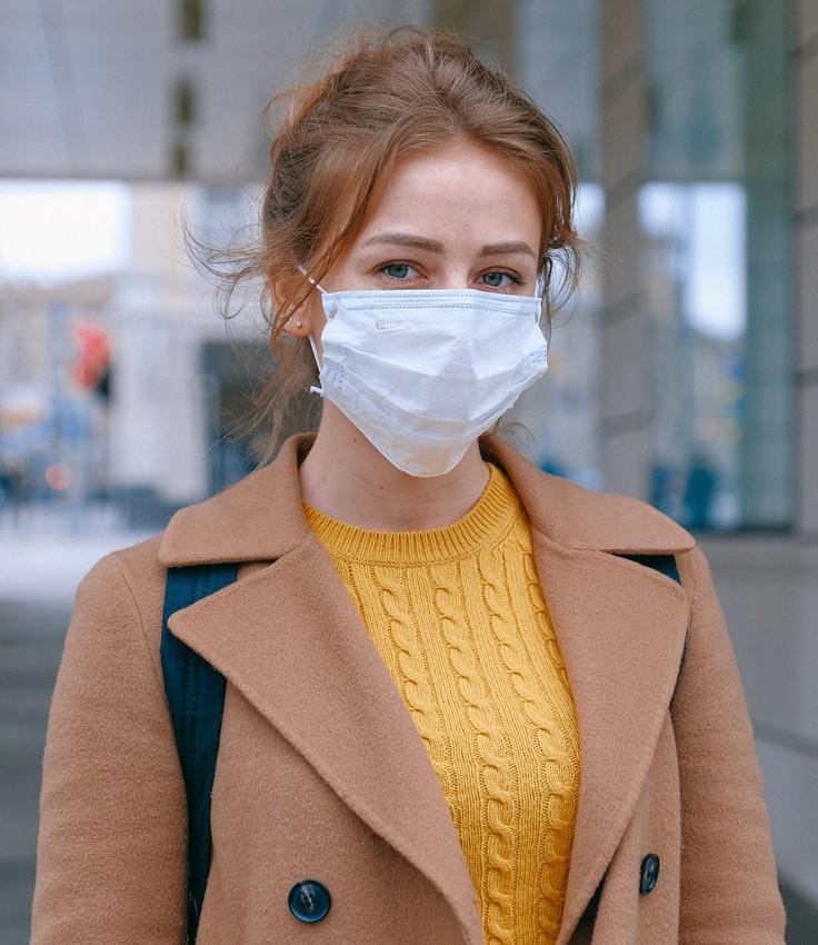 Woman with mask. Coronavirus